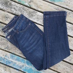 Nine west cropped dark wash jean